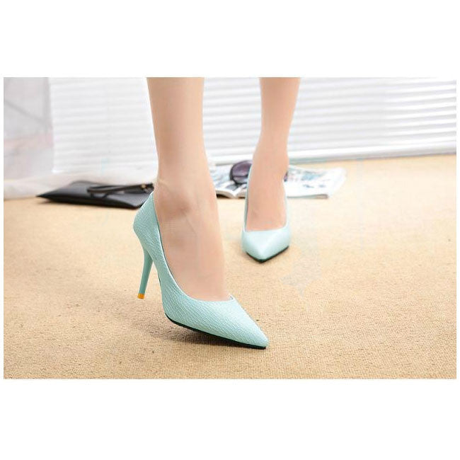 Sky Blue / 4Fashion Spring Summer Women High Heels Pointed Toe Sandals Shoes Pumps Party Womens Plus Size Female Wedding Shoes O127