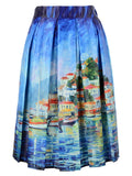 Summer Skater Skirt Vintage Charm Lady Multi Scene Print Pleated Midi Office Skirt Tutu Elegant Womens Skirts - CelebritystyleFashion.com.au online clothing shop australia