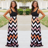 High Quality Brand Women Summer Dress Striped Print Long Dress Beach Boho Maxi Dress Feminine Plus Size - CelebritystyleFashion.com.au online clothing shop australia