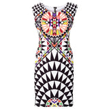 Cakes Summer None Print Sleeveless Sheath O-Neck Natural Knee-Length Dress Sexy Casual2249 - CelebritystyleFashion.com.au online clothing shop australia
