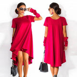 New Brand Midi Women Dress Summer Style Tunic Boho Kylie Jenner Ladies Dresses Mavodovama Red Party Woman Dress Ukraine - CelebritystyleFashion.com.au online clothing shop australia