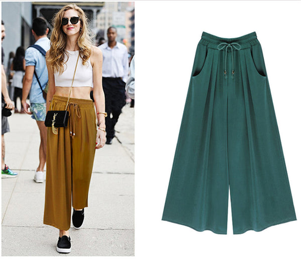 61dfb796e8b6f1 Women's Summer Harem Pants Casual Loose Cotton Blended Pleated Pockets  Solid Elastic Waist Wide Leg Pants