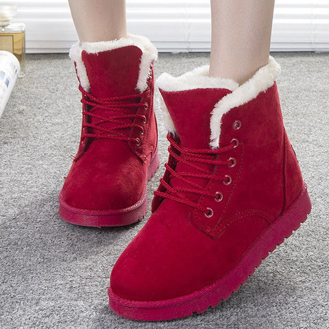 Women Boots Warm Winter Snow Boots Fashion Platform Ankle Boots For Women Shoes Black Botas Femininas - CelebritystyleFashion.com.au online clothing shop australia