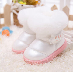 fashion Kids Children's shoes shiny fur warm winter boots snow boost Baby shoes Girls cotton padded Toddler baby's - CelebritystyleFashion.com.au online clothing shop australia