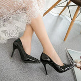 brand red bottom high heels patent leather women pumps pointed toe sexy ladies stiletto shoes woman plus size 34-39 - CelebritystyleFashion.com.au online clothing shop australia