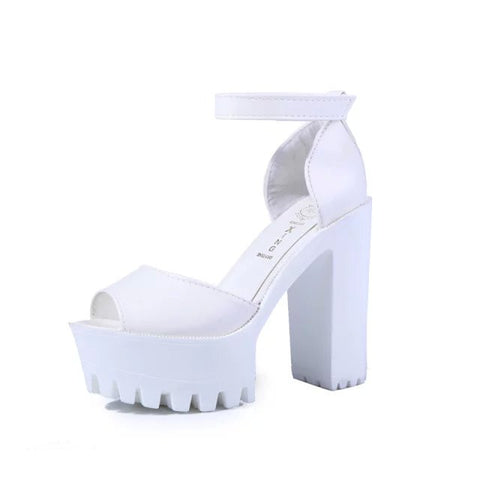 New style women's summer shoes gauze open toe sandals platform shoes female thick heel platform high heels female sandals - CelebritystyleFashion.com.au online clothing shop australia