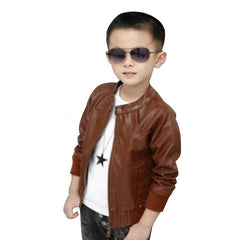 New Boys Coats Faux Leather Jackets 2 Colors Children Fashion Outerwear Spring & Autumn & Winter, MC031 - CelebritystyleFashion.com.au online clothing shop australia