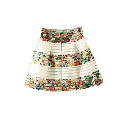 Summer New Style 10 Colors Sexy Fashion Skirt Womens Foral fluffy Skirt Swing Skirt Ladies Tops Ball Gown - CelebritystyleFashion.com.au online clothing shop australia