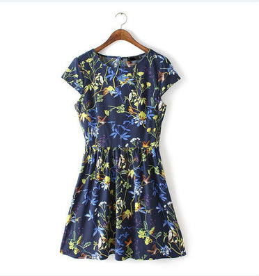 Fashion Sexy Women Elegant Summer Floral Dresses Plus size Women Clothing 6xl Short Sleeve Vestido Casual Dress ED54 - CelebritystyleFashion.com.au online clothing shop australia