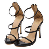 Metallic Strappy Sandals Silver Gold Platform Gladiator Sandals Women High Heels Shoes Summer style - CelebritystyleFashion.com.au online clothing shop australia
