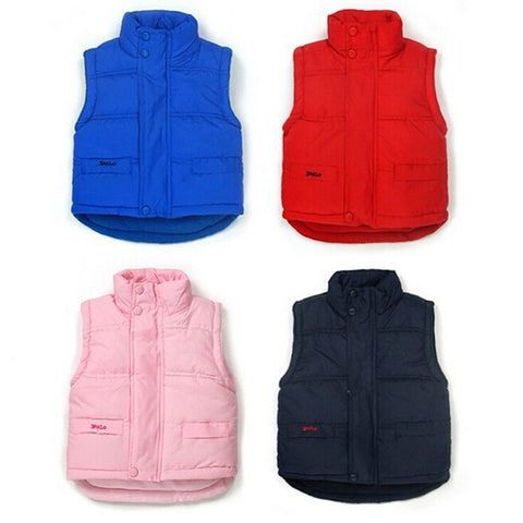 Baby boys girls winter waistcoat kids warm jacket baby thick vest Jacket children clothing coat 2210 01 - CelebritystyleFashion.com.au online clothing shop australia