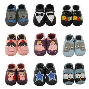 Sayoyo Fashion Cow Leather Baby Moccasins Soft Soled Baby Boy Shoes Girl Newborn Infant Crib Shoes First Walkers Free Shipping - CelebritystyleFashion.com.au online clothing shop australia