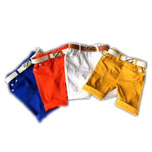 New arrival Summer style Children kids boys Belt shorts baby boy ripped shorts Kids shorts boys girls TN103 - CelebritystyleFashion.com.au online clothing shop australia