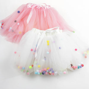 Colorful Balls Girls Tutu Skirt 4 Layers Super Soft Mesh Lace Baby Tutu Children Skirts Ins Style 2 Colors - CelebritystyleFashion.com.au online clothing shop australia