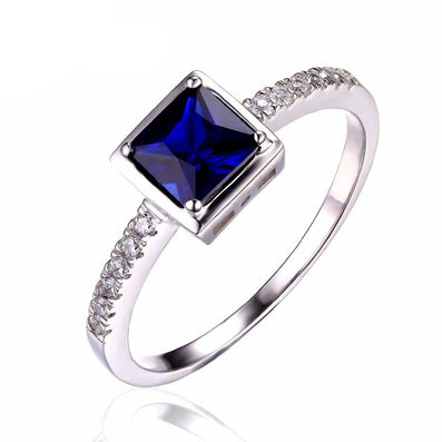 0.8ct Sapphire Ring Solid 925 Sterling Silver Romantic Flower Classic Ring - CelebritystyleFashion.com.au online clothing shop australia