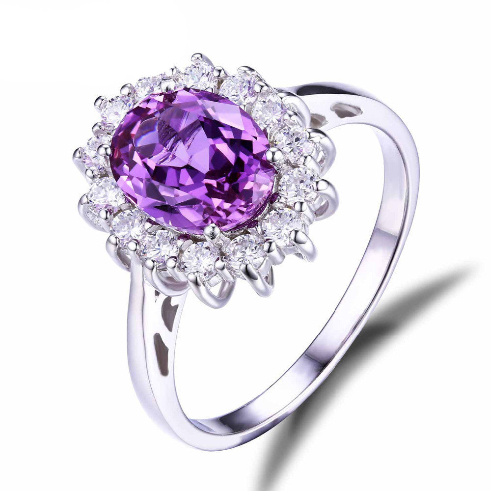 JewelryPalace 2.4ct Oval Alexandrite Sapphire Ring Genuine 925 Sterling Silver Jewelry For Women Princess Diana Engagement RingsCELEBRITYSTYLEFASHION