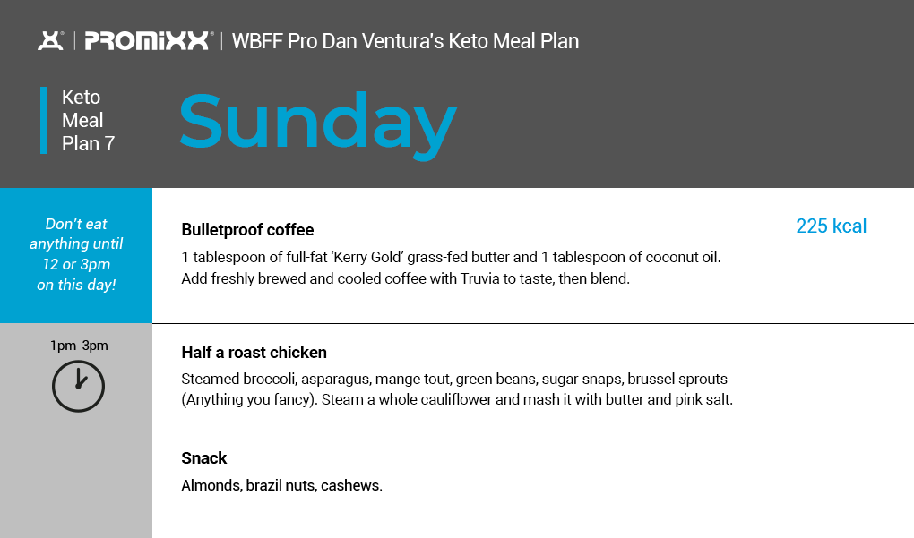 keto meal plan Sunday