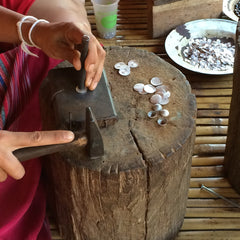 Hill tribe silversmith at work