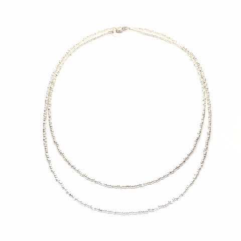 Silver Bead Necklace | Collier en Perle d'Argent