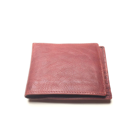 Men's Burgundy Leather Wallet | Portefeuille en Cuir Bourgogne pour Homme