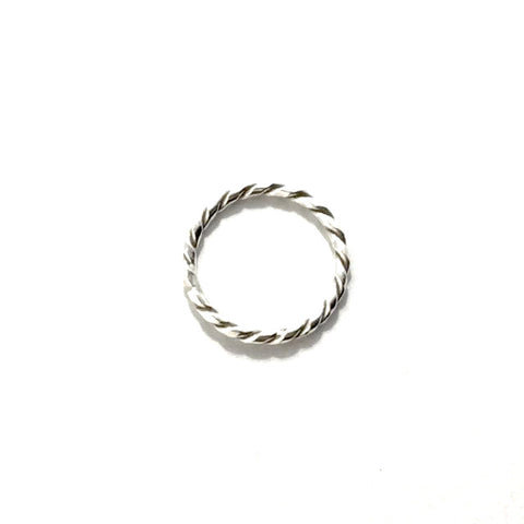 Twisted Wire Silver Ring | Bague en Argent Fil Torsadé