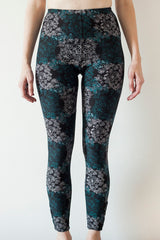 Leggings Black Patterned | Leggings Motif Noir - Boutique C.H.I.L. ( boutiquechil.com )