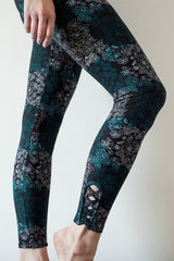 Leggings Black Patterned | Leggings Motif Noir