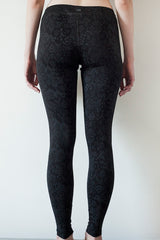 Leggings Black Patterned Cotton  |  Legging Noir avec Motif - Boutique C.H.I.L. ( boutiquechil.com )