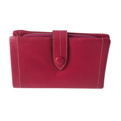 Pink Leather Wallet | Portefeuille en Cuir Rose