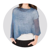 Sheer Knit Ponchos|Ponchos en tricot transparent