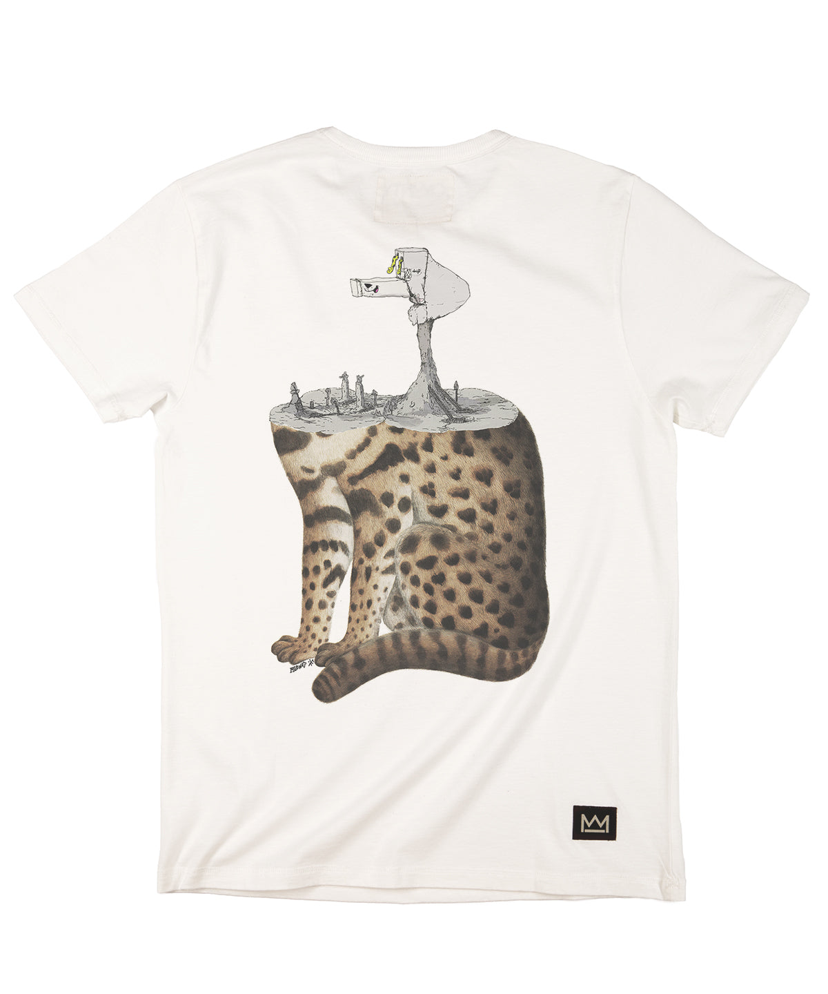 Mudwig Trope Cat T-Shirt White