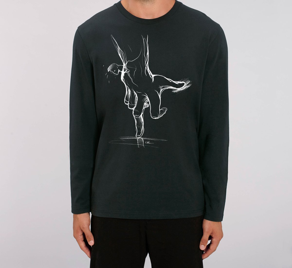 Will Barras 'Trust Hand' Long Sleeve T-Shirt
