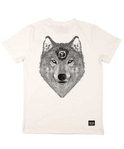 Skuff 'Be A Wolf' T-Shirt White