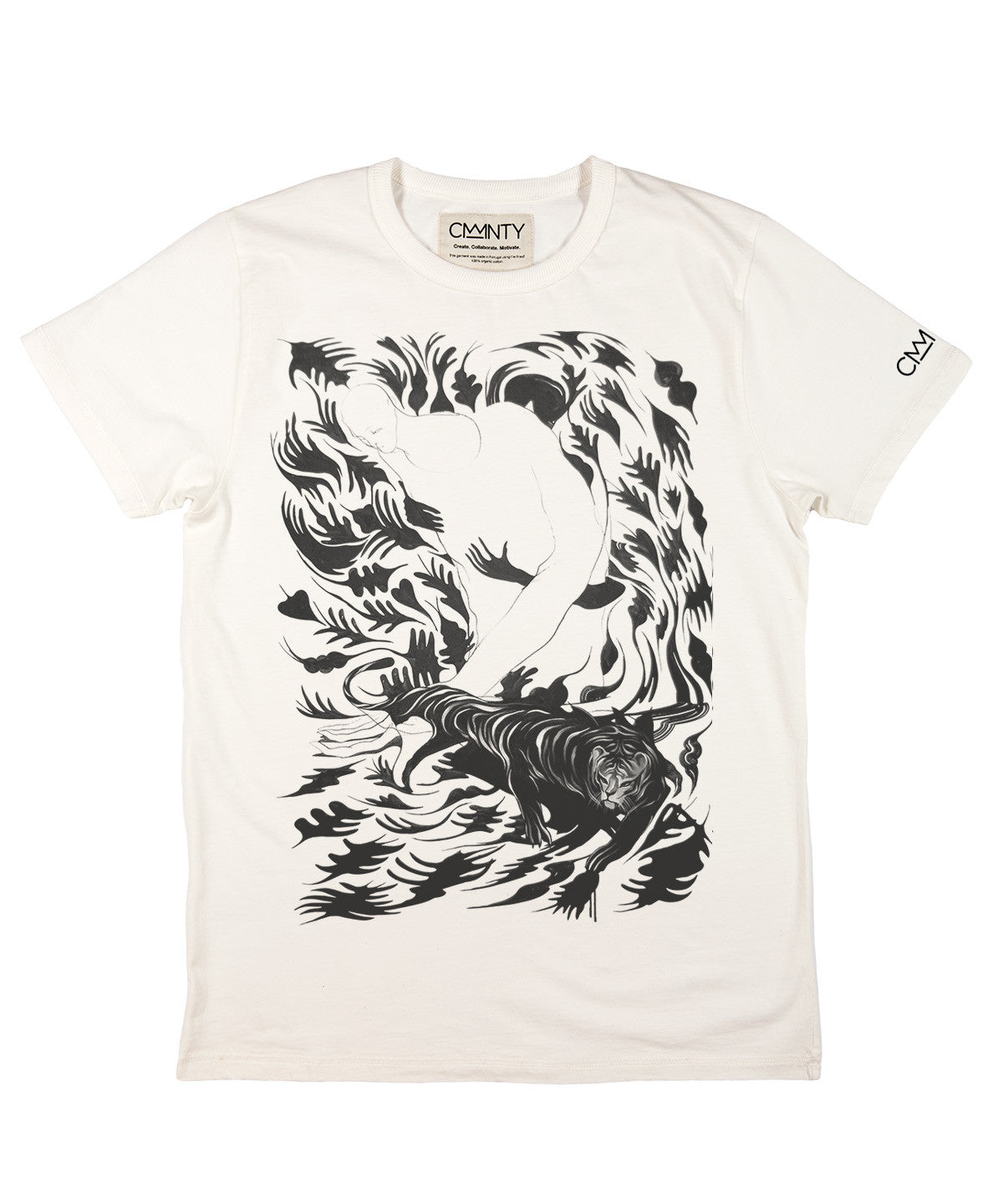 Will Barras 'Tiger Hand' T-shirt White