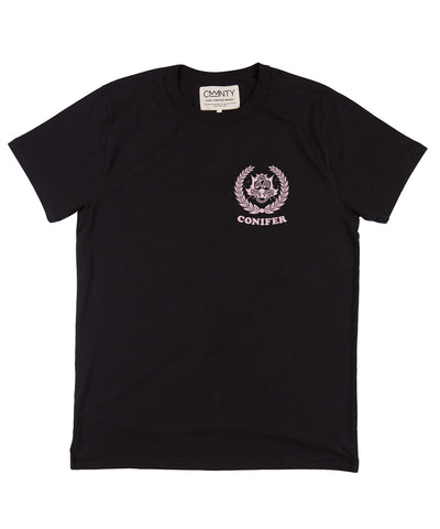 Ornamental Conifer 'Lookout' T-Shirt Black