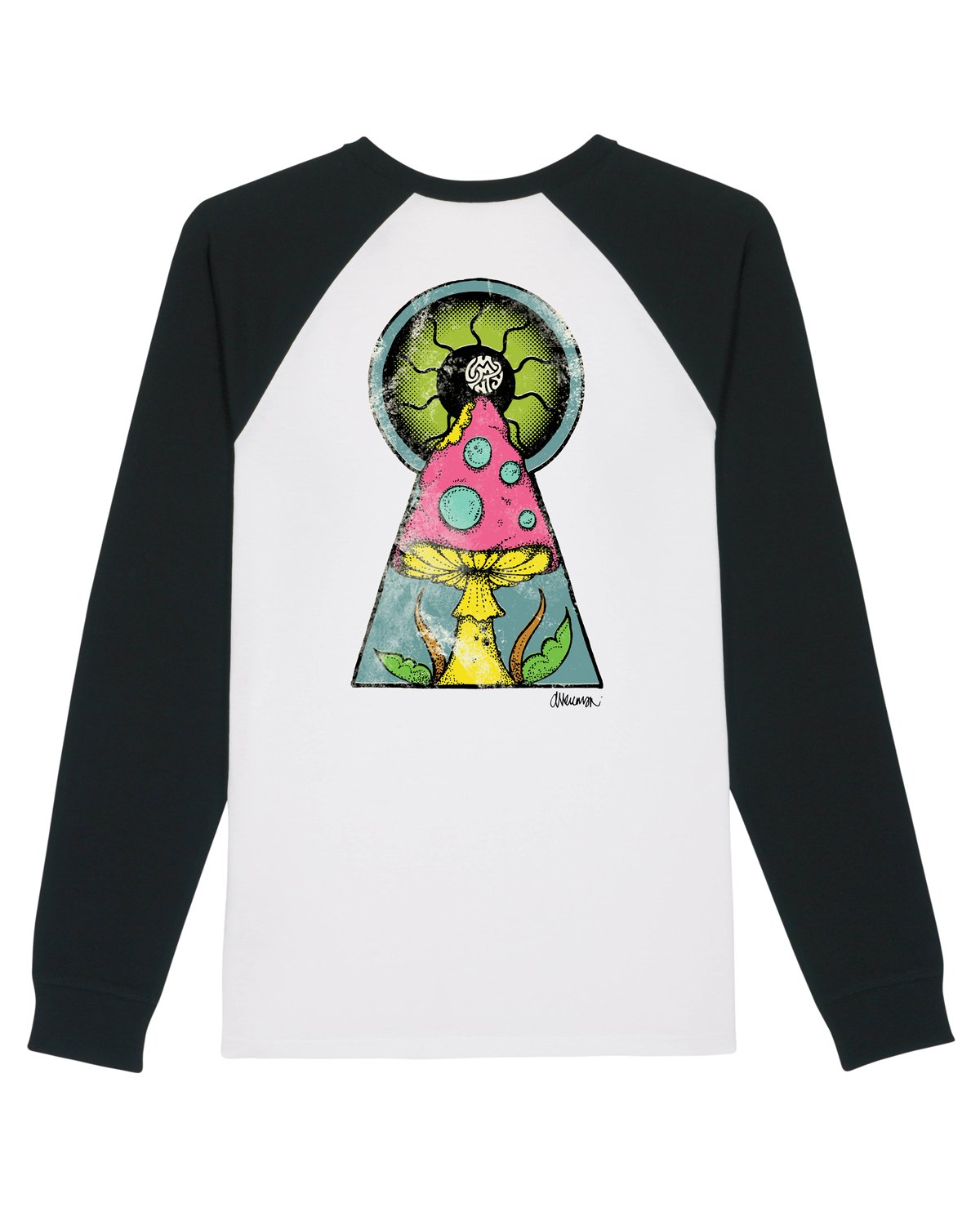 Daren Newman 'Mushroom' Unisex Long Sleeve Baseball T-Shirt
