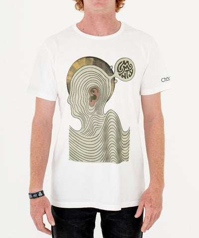 Daren Newman 'Ear Worm' T-Shirt White