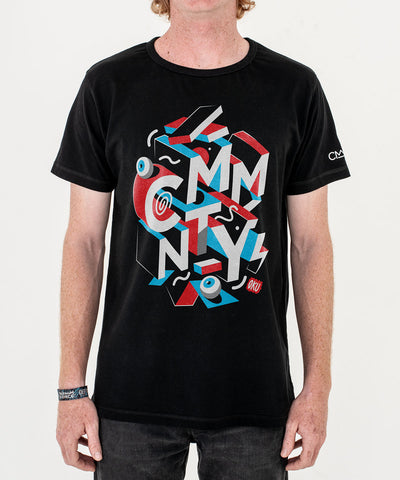 CMMNTY X David Oku 'Block Crew' T-Shirt Black