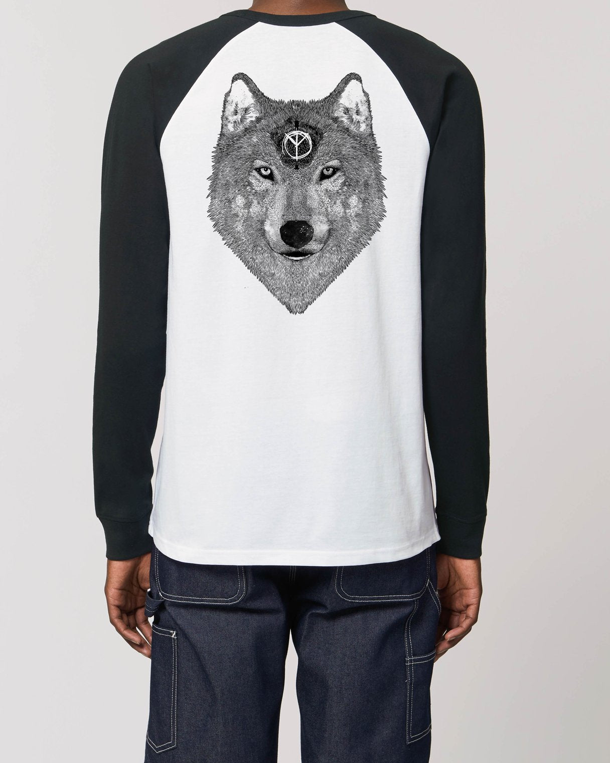 Skuff 'Be A Wolf' Unisex Long Sleeve Baseball T-Shirt