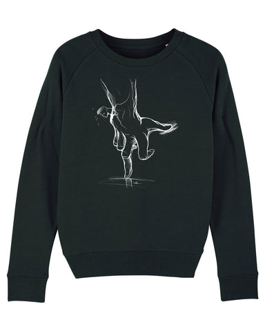 Will Barras 'Trust Hand' Womens Sweatshirt