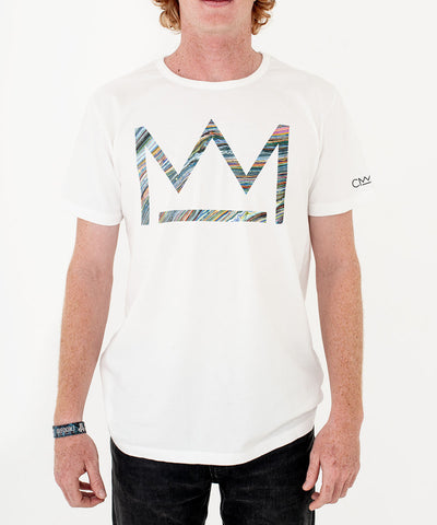 David Walker 'Micro Logo' T-shirt White