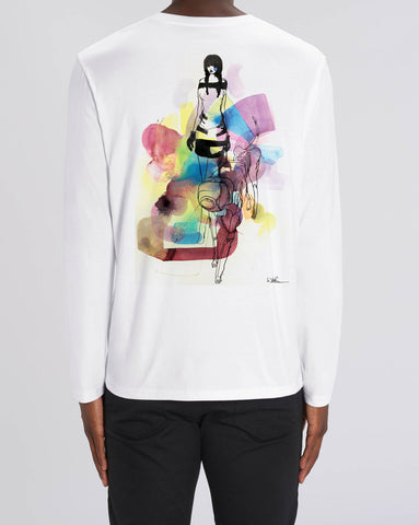 Will Barras 'Darpa Dog' Long Sleeve T-Shirt