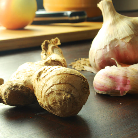ginger and garlic, ready to blend