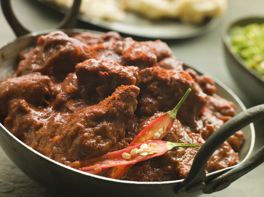 Cooked Beef Vindaloo Curry