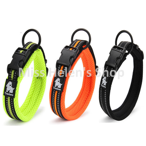 Dogs - Quality 3M Reflective Dog Collars Adjustable Pet Cat&Dog Collar