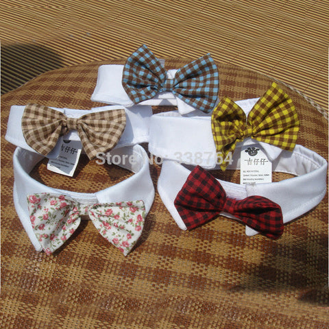 Dogs - Red Colors Cats Dog Tie  Accessories Dogs Bowtie Collar