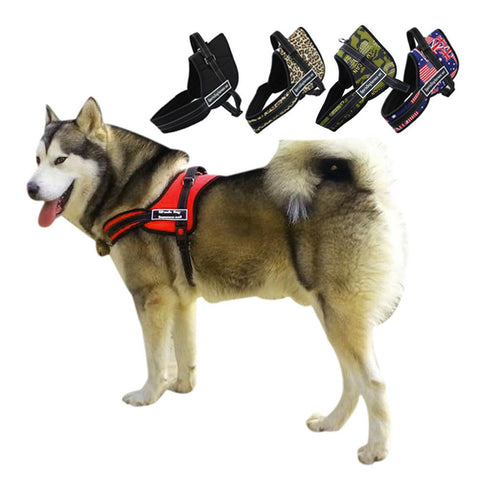 Harness - Nylon Multipurpose Work Dogs Pulling Training Harness Service Vest Heavy Duty