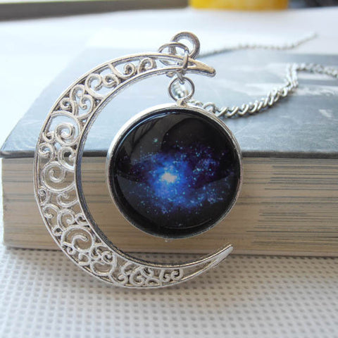 Handmade Crescent Moon Necklace - Indo Wolf