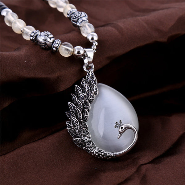 Water Drop Moonstone Necklace - Indo Wolf