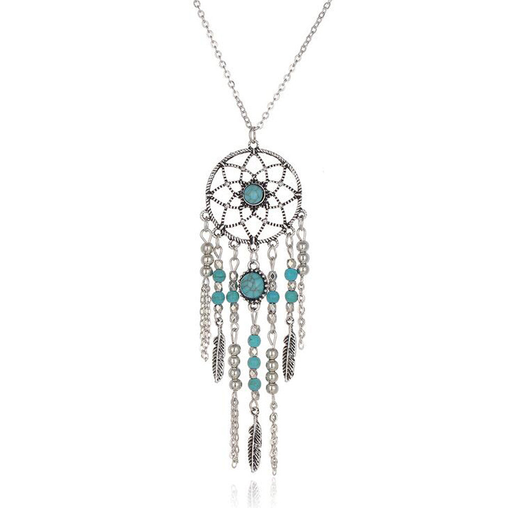 Necklace - Dreamcatcher Native American Fringe Necklace Jewelry
